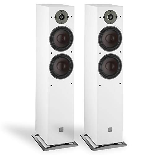 Amazing Deal Dali Oberon 7 Floor Standing Speakers in White (Pair)