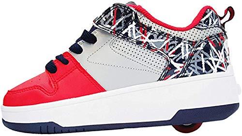 Heelys POP Push mixte enfant   chaussures à roulettes pour garçons et filles   ROUGE / GRIS / MARINE, (34 EU)