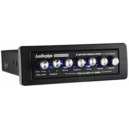 5 Band Graphic Equalizer 7 Volt Line Driver Flush Mount Mobile Audio EQ-57MOTO