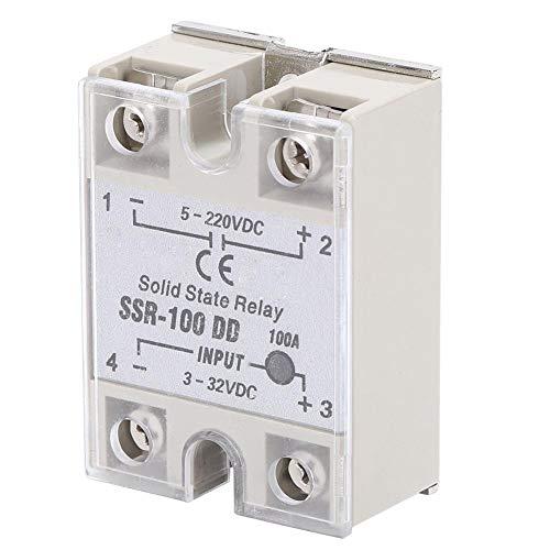 Relé de estado sólido, relé de estado sólido 100A, relé de estado sólido DC-DC SSR con interruptor sin contacto SSR-100DD de alta calidad 5-220VDC