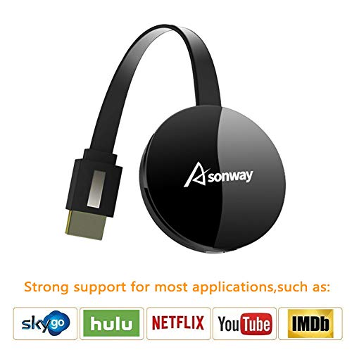 Wireless Display Dongle - WiFi Portable Display Adapter TV Projector, HDMI 1080P Digital TV Receiver, Support Airplay DLNA Miracast, Compatible with iOS/Android Smartphones/Windows/Mac/Laptop