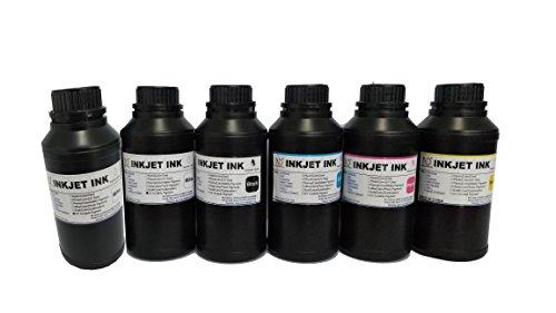6x250ml ND Brand Premium Led UV Curable Ink for Flatbed Printer Head R290,L800,L1800,R1390,R1400,R2000,DX5,DX7