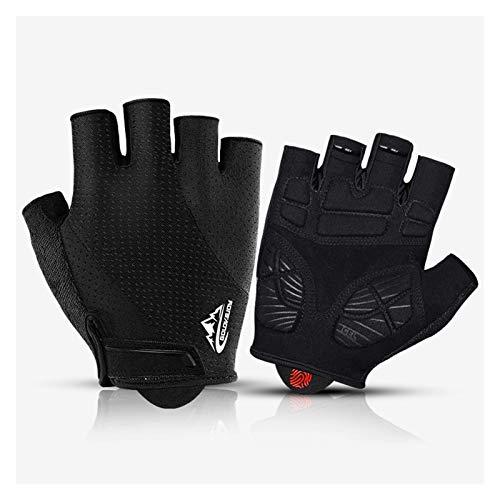 Qiutianchen - Guantes de ciclismo resistentes al desgaste, guantes de gimnasio, pesados, para levantamiento de pesas, musculación, entrenamiento deportivo (color: negro, tamaño: XXL)