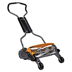 Fiskars Reel Mower, non-contact cutting lawn mower, cutting width: 46 cm, StaySharp Max, Black / Orange / Silver, 1000591