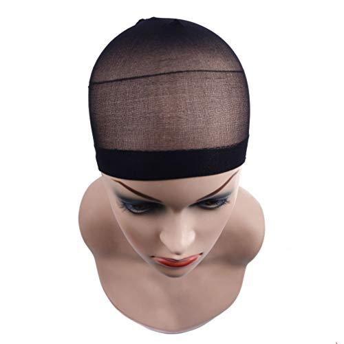 Filet De Cheveux De Chapeau De Perruque, 36Pcs Filet De Cheveux De Chapeau De Perruque De Haute Qualité, Utilisé Pour Les Cheveux Tressés,Noir