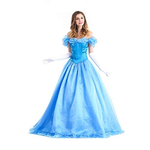 HOOLAZA Light Blue Damen Rollenspiel Cinderella Costume Classic Princess Abendkleid Kleid