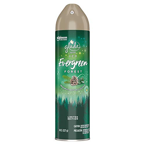 Glade Air Freshener Spray, ICY Evergreen Forest, 8 Oz