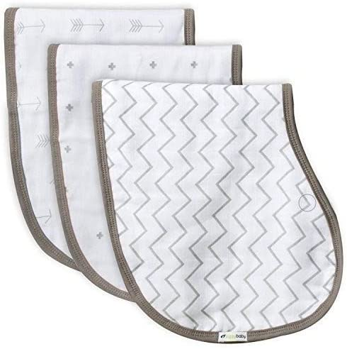 Muslin Burp Cloths Bib Set 3 Chevro OFFer Grey store Cross Pack Arrows