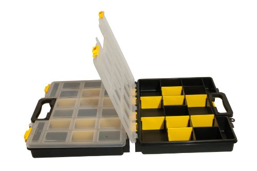 MAURER 2240028 Maletin Organizador 380x330x120 mm Doble, Negro/Amarillo