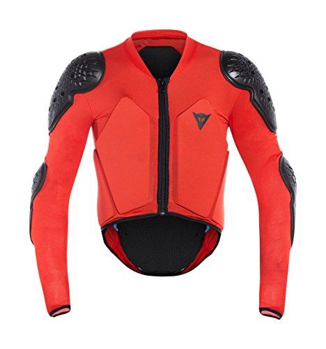Dainese scarabée Jacket, Veste de Protection Enfant, bébé, 3879699_606_JL, Noir/Rouge, JL