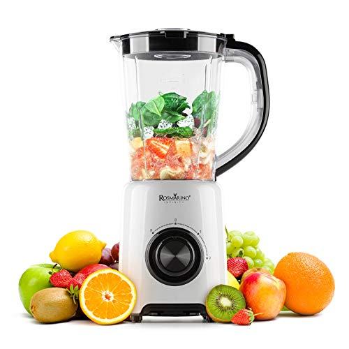 Rosmarino Infinity Easy Mix Standmixer - Multifunktionsmixer für Smoothies, Milkshakes, Suppen - Blender mit BPA-frei 1,5L Behälter - 500W