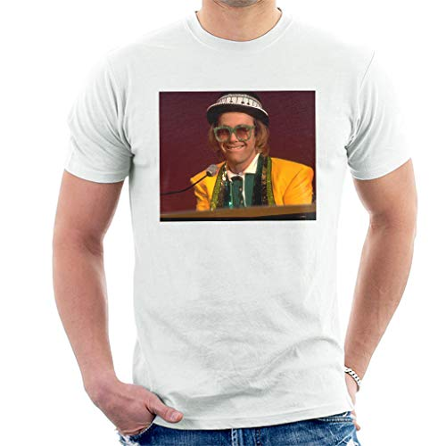 TV Times Elton John at The Piano 1977 T-shirt voor heren