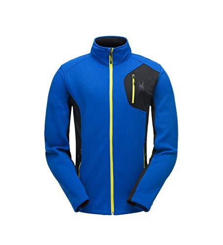 Spyder Herren Men's Bandit Full Zip Stryke Jacket Fleece-Oberbekleidung Jacken, Türkisches Meer/Schwarz/Säure, L