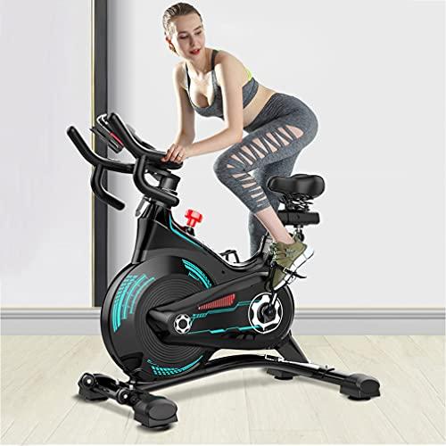 CGBF-Bicicleta de Ejercicio Estacionarias con Sensor de Frecuencia Cardíaca y Volante de Inercia de 24 Libras,Silencioso Accionado por Cinturón,Bicicleta de Ciclismo de Interior
