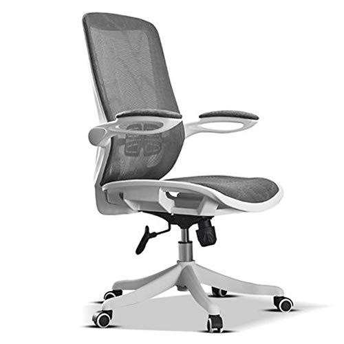 LILIS Friseurstuhl Friseursessel Executive Desk Chair Verstell- Und Swivel Computer Stuhl Home Office Chair Mid-Back Mit Lendenwirbelstütze Ergonomische Aufgaben-Stuhl