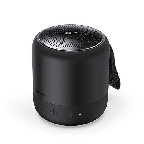 Anker Soundcore Mini 3, Bluetooth-Lautsprecher mit BassUp und PartyCast Technologie, USB-C, Wasserschutz IPX7, Individueller EQ (Generalüberholt)