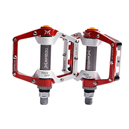 Mountain Bike Pedals Mtb Pedals Road Bike Pedals Flat Pedals Bicycle Pedals Bike Accessories Bmx Pedals Bike Accesories Bicycle Accessories red,free size