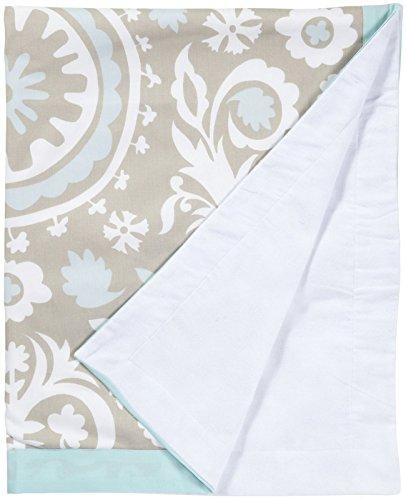 New Arrivals Picket Fence Crib Blanket - Aqua & Khaki by New Arrivals Inc