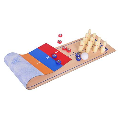 Atrumly 3 in 1 Tisch Curling Spiel Bowling Shuffleboard Tisch Set Familienspiele Eltern-Kind Interaktive Party Spaß Familie Tischspiel Geschenk für Kinder und Erwachsene