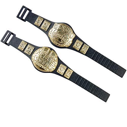 Set of 2 Different Wrestling Action Figure Championship Belts for WWE Wrestling Figures