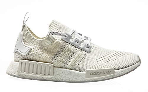 adidas Originals NMD_R1 PK, Footwear White-Footwear White-Linen Green, 3
