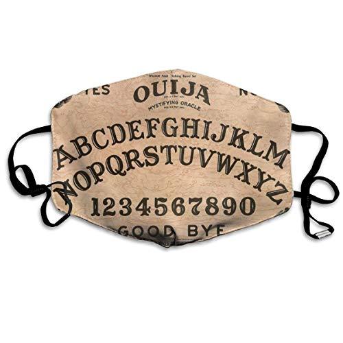 NA Bequeme verstellbare Tropische Ouija Hexenbrett gedruckte Gesichtsdekorationen für Frauen und Männer