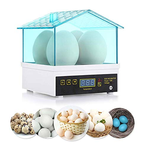 WANGIRL Digital Automática Incubadora de Huevos de 4 Huevos Máquina Inteligente Nacedora Huevo Giratorio Automático de Temperatura Ajustable for Gallina Pato Paloma Ganso Máquina