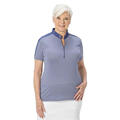Nancy Lopez Golf Polo a maniche corte Flex - Viola - Medium