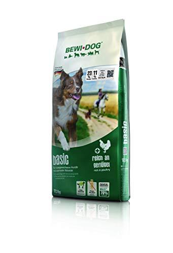BEWI DOG Basic [12,5 kg] Hundefutter | Trockenfutter für Hunde | ohne Weizen & Soja | 80% tierisches Eiweiß | für große, mittlere & Kleine Rassen