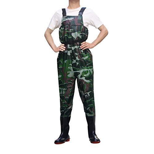 CXYY Brustwaders Wasserdicht, Fishing Waders Wasserdichte Wathose, Hunting Bootfoot Waders Mit Watgürtel 100{d0cf65139d9240f5189d9898ad9c717066e1273b6a7f43a368c2375a57d4e923} Wasserdichtes, Leichtes PVC Wader Für Männer Und Frauen,Tarnen,EU37