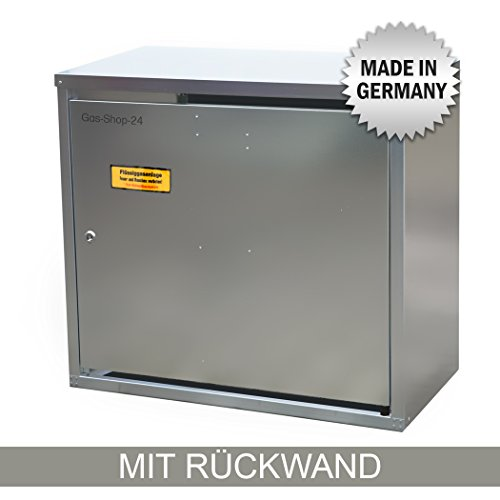 2 x 11 kg Propangas Flaschenschrank/Gasflaschenschrank verzinkt MIT RÜCKWAND (geeignet für 3-, 5, 10, 11 kg Gasflaschen - Gasschrank Schutzschrank)