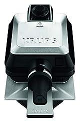 Krups FDD95D Profesjonalne wafle żelaza | Podwójne gofrownicy | 2 belgijskie gofry w tym samym czasie | Funkcja obrotowa dla idealnego gofru | 7 poziomów opalania | Płyty odpowiednie do zmywarki | 1200w