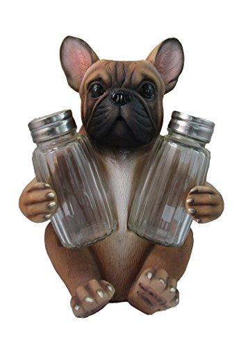 Adorable French Bulldog Salt And Pepper Shaker Set By DWK   Decorative Statues and Gift Ideas for Pet Owners
