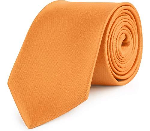 Ladeheid Corbatas Anchas Diversidad de Colores Accesorios Ropa Hombre KP-8(Naranja, 150cm x 8cm)