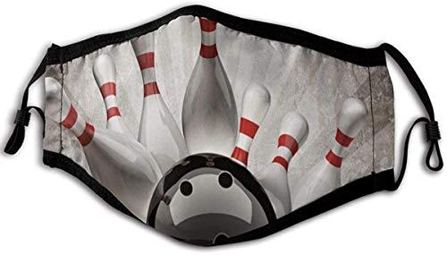 Dark forest Bowlingkugel Sport Vintage Bandana Waschbarer wiederverwendbarer Mundschutz für Staub, im Freien, Festivals