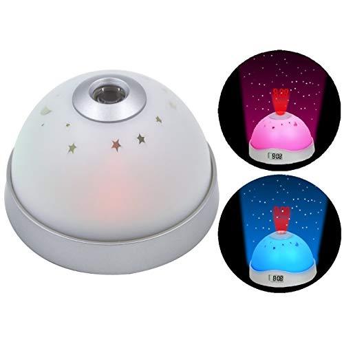Cisixin LED Änderung Sterne Nacht magische Licht Projektor Hintergrund Beleuchtung Wecker, Farbwechsel Sternenhimmel Projektor