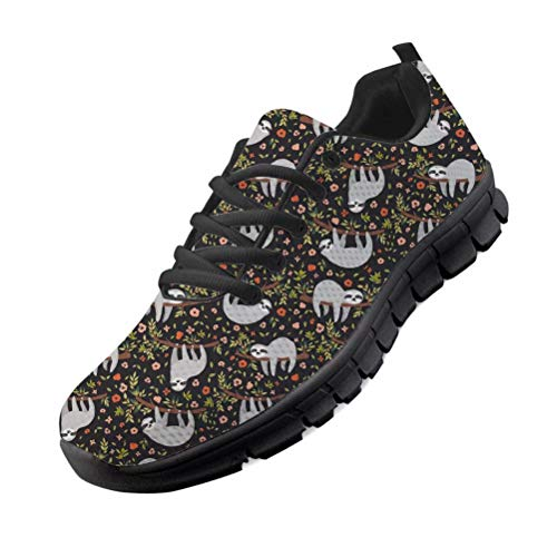 chaqlin Damen Schuhe Trainer Leichte Walking-Laufschuhe - Atmungsaktive Freizeitschuhe aus Mesh mit Faultier Designer-Sneaker EU44