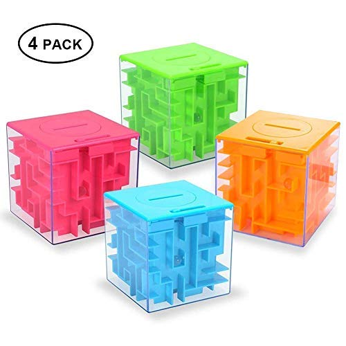 Money Maze Puzzle Box, Twister.CK Money Holder Puzzle for Kids and Adults Birthday (4PACK) (Best Grow Box For The Money)