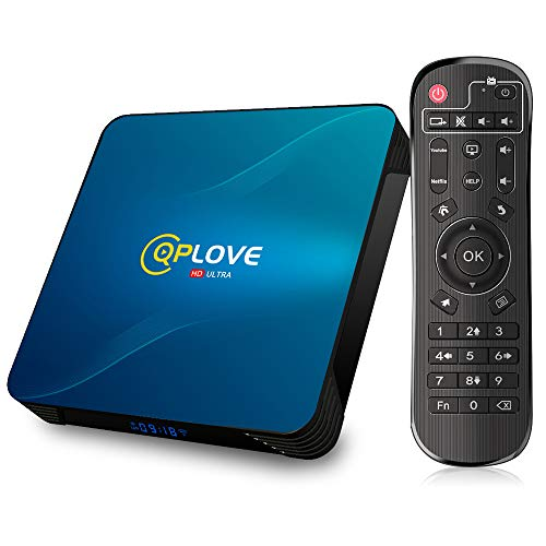 Android 100 TV Box QPLOVE Q8 Android TV Box 4 GB RAM 32 GB ROM RK3318 Quad Core Unterstutzung 4K 3D Dual Band WiFi 24G5G USB 30 Bluetooth 40 H265 Smart TV Box