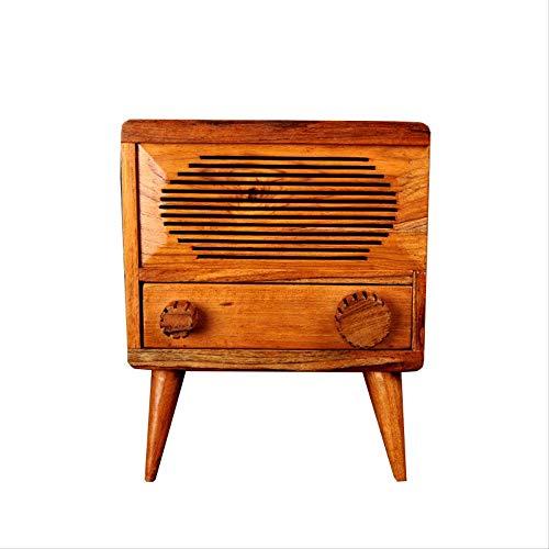 SHIYZII Decoratie thuis ambachten, Massief hout mobiele telefoon versterker widget kleine kast opslag kleine kast huis zacht verpakt ornamenten 22 x 11 x 27cm