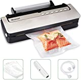 Blusmart 80kpa Food Vacuum Machine Automatic Food Vacuum Machine with Removable Slot and Roller & Cutter, Double Layer Sealing Machine Vacuum Cooking