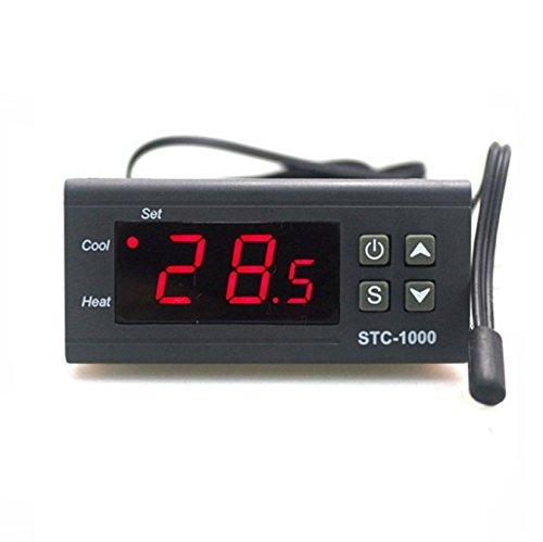 Satkit STC-1000 Digitale thermostaat, 220 V, koel- en warmte-incubator, aquarium met temperatuursensor