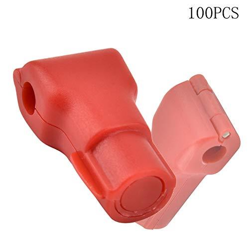 Kafuty 100 piezas Teléfono Móvil Anti-Robo Bloqueo de Gancho Artículos de la Tienda al por Menor Bloqueo Rojo Uso de un Dispositivo Especial de Desbloqueo Magnético (6mm)