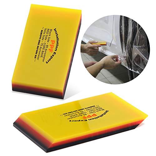 Ehdis TPU Rakel 75 und 85 Durometer Härte DoppelKante Schaber für Autoscheibentönung Vinylfolie Glasreinigungs Fensterfolien Autofolie