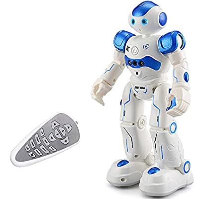 Eholder RC Smart Robot Toy for Kids, Remote Control Robot Intelligent Educational Programmable Robot Rechargeable, Walking Dancing Gesture Control Smart Robot Gift for 6 5 8 7 9 Year Old Boys (Blue)