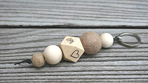 Schlüsselanhänger/OPA/verschiedene Motive (z.B. Anker, Herz, Babyfüße, Stern, Pusteblume.), mit Namen und Wörtern möglich