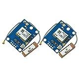 Aideepen 2PCS GY-GPS6MV2 NEO-6M Modulo di Posizione Modulo GPS con Antenna Flight Controller Scheda GPS per MWC IMU APM2