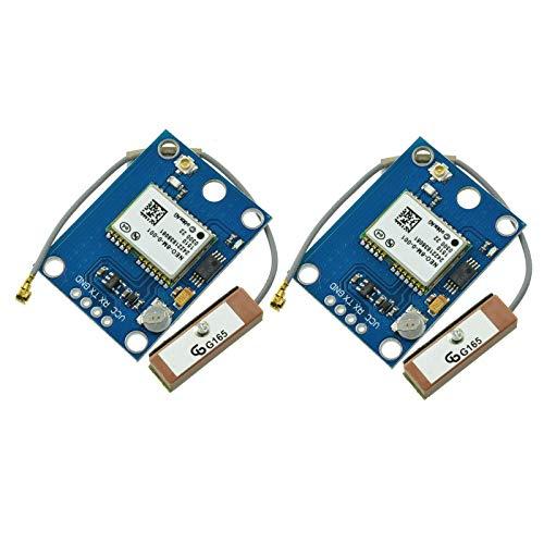 Aideepen GPS-Modul Positionsmodul mit Antennen-Flugsteuerung, GPS-Board MWC IMU APM2, 2 Stück