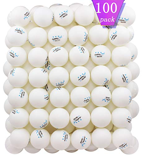 MAPOL 100 Pack White 3-star Table Tennis Balls Advanced Training Ping Pong Ball