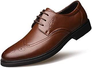 FYKHVF Men's British Business Dress Leather Shoes Brock Fashion lace-up Shoes